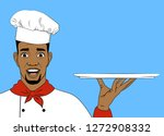 young african american chef in... | Shutterstock .eps vector #1272908332