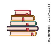stack of books isolated icon | Shutterstock .eps vector #1272911365