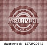 assortment red emblem or badge... | Shutterstock .eps vector #1272920842
