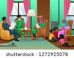 a vector illustration of... | Shutterstock .eps vector #1272925078