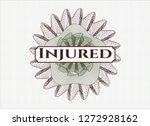 green and red linear rosette... | Shutterstock .eps vector #1272928162