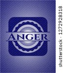 anger emblem with denim high... | Shutterstock .eps vector #1272928318