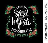 a fresh start and infinite... | Shutterstock .eps vector #1272930442