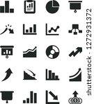 solid black vector icon set  ... | Shutterstock .eps vector #1272931372