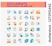 documents icons set. ui pixel...