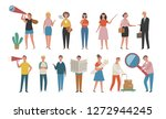 a set of working people pose on ... | Shutterstock .eps vector #1272944245