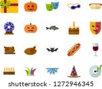 color flat icon set  ... | Shutterstock .eps vector #1272946345