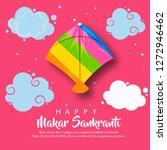 indian kite festival makar... | Shutterstock .eps vector #1272946462