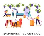 winery factory. wine production ... | Shutterstock .eps vector #1272954772