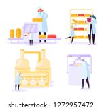 cheese food production industry ... | Shutterstock .eps vector #1272957472