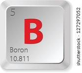 boron button   Shutterstock . vector #127297052