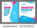 layout poster template design... | Shutterstock .eps vector #1272970672