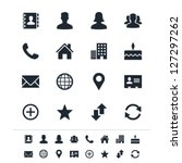 contact icons | Shutterstock .eps vector #127297262