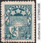 latvia circa 1925 a stamp... | Shutterstock . vector #1272980188