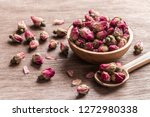 Pink Red Dried Rose Buds In...