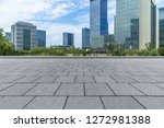 empty pavement and modern... | Shutterstock . vector #1272981388
