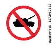 tank icon.military machine... | Shutterstock .eps vector #1272982882