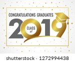 graduating class of 2019 vector ... | Shutterstock .eps vector #1272994438