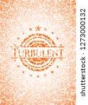 turbulent abstract orange... | Shutterstock .eps vector #1273000132