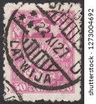 latvia circa 1927 a stamp... | Shutterstock . vector #1273004692