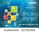 corporate website template.... | Shutterstock .eps vector #127301366
