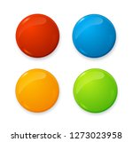 realistic 3d empty color blank... | Shutterstock . vector #1273023958