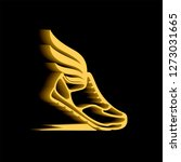 abstract icon of sports shoes... | Shutterstock .eps vector #1273031665