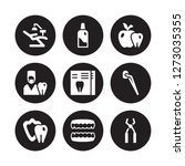 9 vector icon set   dentist... | Shutterstock .eps vector #1273035355
