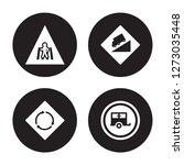 4 vector icon set   crossing ... | Shutterstock .eps vector #1273035448