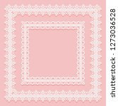 set of square lace frames.... | Shutterstock . vector #1273036528