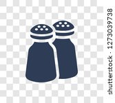 salt and pepper shakers icon.... | Shutterstock .eps vector #1273039738