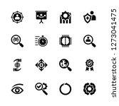 vector illustration of 16 icons....   Shutterstock .eps vector #1273041475