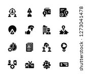 Stock vector vector illustration of icons editable pack focus man id resource solution check market 1273041478