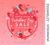 valentines day special offer... | Shutterstock .eps vector #1273045552