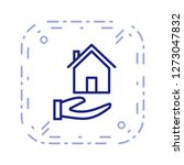 mortgage vector icon sign icon... | Shutterstock .eps vector #1273047832