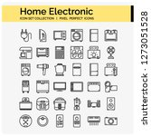 home electronic icons set  web...