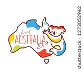 visit australia 2019... | Shutterstock .eps vector #1273052962
