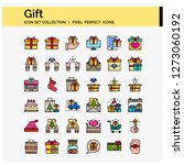 gift icons set pixel perfect...