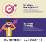 strategy concept  business... | Shutterstock .eps vector #1273065445