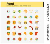 food icons set pixel perfect...