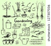 Hand Drawn Garden Tools  Sprin...