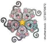five mice with cheese | Shutterstock .eps vector #1273070872