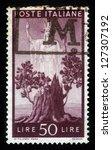 italy   circa 1945  a stamp... | Shutterstock . vector #127307192
