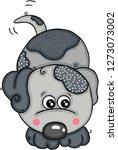 cute grey dog | Shutterstock .eps vector #1273073002