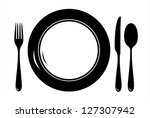 plate with cutlery | Shutterstock .eps vector #127307942
