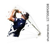 golf player  low polygonal... | Shutterstock .eps vector #1273089208