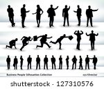 collection of business people... | Shutterstock .eps vector #127310576