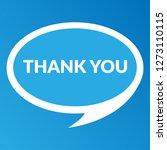 thank you sign   speech bubble  ... | Shutterstock .eps vector #1273110115