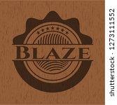 blaze realistic wooden emblem | Shutterstock .eps vector #1273111552