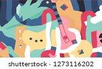 creative wall design poster... | Shutterstock . vector #1273116202